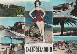 CAMPOMARINO  / Saluti Con Vedutine  _ Viaggiata - Campobasso
