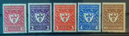 DEUTSCHES REICH 1922 - MNH/MLH - Mi 199-203 - Alemania