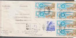 MYANMAR -  1984 -UNION OF BURMA REG COVER DAGON TO LONDON - Myanmar (Burma 1948-...)