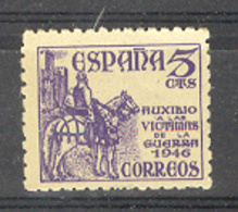 Espagne 1949. Surtaxe Victimes De La Guerre. Yv 784 (**) - 1931-50 Unused Stamps