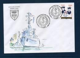 FRANCE    Enveloppe Porte Hélicoptères JEANNE D'ARC  Obl. Du 21/11/2009  BREST  Illustrée - Postmark Collection (Covers)