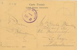 798/29 -- EGYPTE EGYPT WWI CENSORSHIP - Viewcard PORT SAID 1915 To LA HAYE NL - Censor PORT SAID No 2 Violet - Égypte