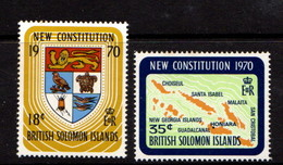 BRITISH  SOLOMON  ISLANDS    1970    New  Constitution    Set  Of  2    MNH - British Solomon Islands (...-1978)