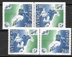 Suède 1992 N°1697/1698 Neufs En Paires Football - Suède
