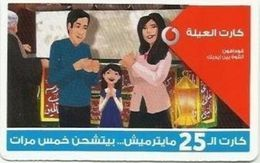 EGYPT - Family Card 25 Pounds  Vodafone , [used] (Egypte) (Egitto) (Ägypten) (Egipto) (Egypten) - Egipto