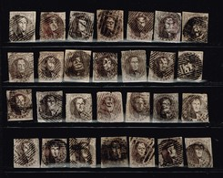 Belgique Anciens Timbres à Identifier - Boites A Timbres