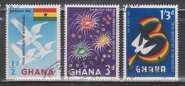 GHANA Scott # 71-3 Used - Third Anniversary Of Independence - Ghana (1957-...)