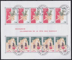 Monaco     .     Yvert    .   Bloc  19     .   O   .    Oblitéré  .    /   .  Cancelled - Blocks & Kleinbögen