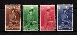NEW  ZEALAND    Queen  Elizabeth  II    Part  Set  Of  4    USED - New Zealand