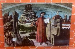 DANTE E IL POEMA Domenico Di Francesco Detto Il Michelini CARTOLINA  Viaggiata - Sculture
