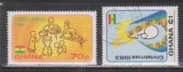 GHANA Scott # 852-3 Used - Christmas 1983 - Ghana (1957-...)