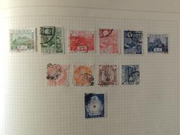 Japon - Japan With Telegraph Stamps - Collection Sur Page D'album - - Briefmarken