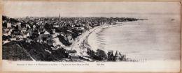 X76035 Carte Lettre Géante Panorama Du HAVRE Et Embouchure De La SEINE Vue Prise De NOTRE-DAME Des FLOTS 1900s NEURDEIN - Unclassified