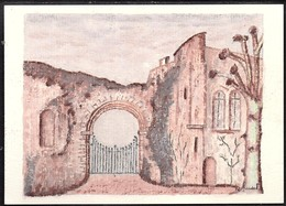 Pastel De Robert Renard.Abaye De Coulombs (Vue De L'intérieur) . Exemplaire Unique. - Illustratori & Fotografie