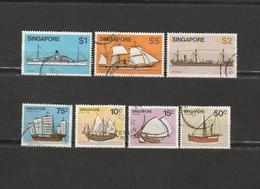 Singapour - Les Transports - Lot De 7 Timbres Les Bateaux Année 1980 Mi 351 353 354 350 344 367 349 - Singapore (1959-...)