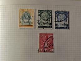 Siam Old Stamps Sur Page D'album - - Siam