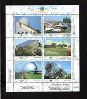 Planche De 6 Vignettes Dentelées Du Parc Du Futuroscope De Jaunay Clan Près De Poitiers - Erinnofilia
