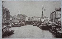 CPA BRUXELLES Brussel Canal Quai Aux Charbons Kanaal Péniche Peniche Barge Binnenscheepvaart - Zonder Classificatie