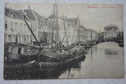 CPA BRUXELLES Brussel Canal Quai Au Foin Kanaal Péniche Peniche Barge Binnenscheepvaart - Belgique