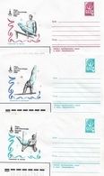 Russia/USSR 1980, 3 Covers Moscow Olympics Men's Gymnastic,VF Unused !! (RN50) - 1923-1991 USSR