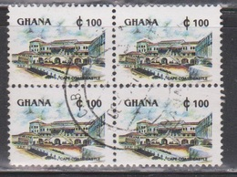 GHANA Scott # 1357D Used Block Of 4 - Cape Coast Castle - Ghana (1957-...)