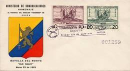Lote 810-1F, Colombia, 1955, SPD - FDC, Soldados Colombianos En Corea, Colombian Soldiers In Korea - Colombia