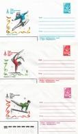 Russia/USSR 1980, 3 Covers Moscow Olympics Women's Gymnastics,VF Unused !! (RN50) - Gymnastics