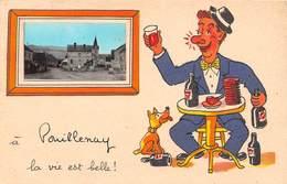 A POUILLENAY La Vie Est Belle - CPA Fantaisie - Illustrateur - Autres Communes