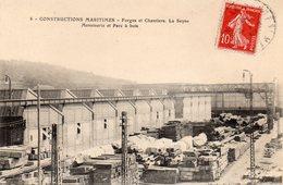 83 LA SEYNE FORGES ET CHANTIERS DE LA MEDITERRANEE CONSTRUCTIONS MARITIMES MENUISERIES ET PARC A BOIS CLICHE UNIQUE - La Seyne-sur-Mer