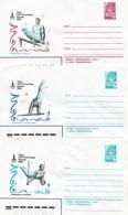 Russia/USSR 1980, 3 Covers Moscow Olympics Men's Gymnastics,VF Unused !! (RN50) - Gymnastics