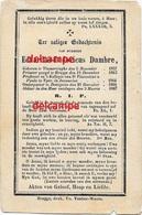 Bidprentje Eduard Dambre Vlamertinge 1837 Pastoor Te Dottignies  En Aldaar Overleden 1867 - Imágenes Religiosas