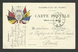 """Carte F.M. Du """" Touring Club De France 1915 """" / écrite 2ème Régiment étranger S.P. 6 - Marcophilie (Lettres)"""