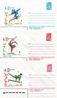 Russia/USSR 1980, 3 Covers Moscow Olympics Women's Gymnastics,VF Unused !! (RN50) - 1923-1991 USSR