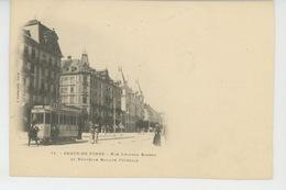 SUISSE - LA CHAUX DE FONDS - Rue Léopold Robert Et Nouvelle Banque Fédérale (tramway ) - NE Neuchâtel