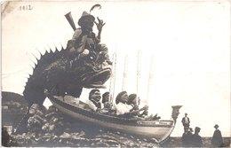 FR06 NICE - Carte Photo - 1912  - La Rascasse - Animée - Belle - Carnevale