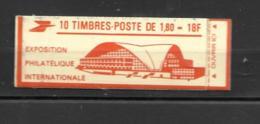 2220-C3  Type Liberté De Delacroix 10 Timbres PHILEXFRANCE82 2 Scans  Carnet Ouvert  26/55 - Uso Corrente