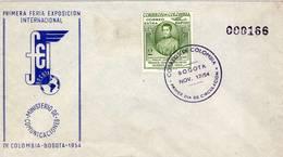 Lote 796fF, Colombia, 1954, SPD - FDC, 1er Centenario De La Muerte Del Arzobispo M. J. Mosquera, Archbishop, FEI - Colombia