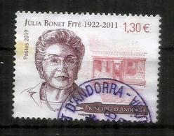 Sra Júlia Bonet Fité,fundadora De Perfumeria Júlia., Año 2019 , Oblitéré 1 ère Qualité - Andorra Francesa