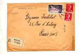 Lettre Recommandée Metz Sur Muller Martinique - Postmark Collection (Covers)