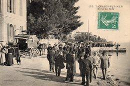83 TAMARIS SUR MER OBSEQUES DE MICHEL PACHA AU BORD DE MER SUPERBE ANIMATION CLICHE UNIQUE - La Seyne-sur-Mer