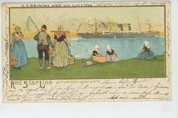 BATEAUX - PAQUEBOTS - RED STAR LINE ANTWERPEN - New York - Le S.S. KROONLAND - 10 April 1904 - Paquebots