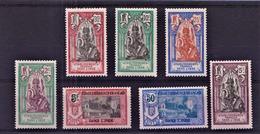 INDE - N° 49/55**- DIEU BRAHMA ET TEMPLE DE PONDICHERY - SERIE COMPLETE - LUXE - Indien (1892-1954)