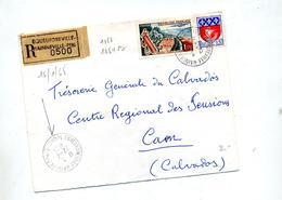 Lettre Recommandée Equeurdreville  Sur Touquet - Postmark Collection (Covers)