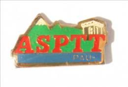 Pin's ASPTT PAU (64) - La Poste - Montagne- Donjon Du Château - I449 - Mail Services