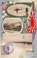 """RUSSIAN JAPANESE WAR (travelled Shanghai) """"General Kuroki And His Staff At The River At,Kohmatang ...,First Army... - Japan"""