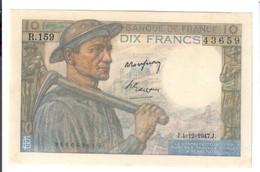 Francia France 10 Francs 1941-1949 ''Mineur'' 1947-12-04 Forellini Sup Lotto 2699 - 1871-1952 Anciens Francs Circulés Au XXème