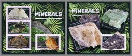 MALDIVES 2019 MNH Minerals Mineralien Mineraux M/S+S/S - OFFICIAL ISSUE - DH1930 - Minerali