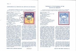 V) 1986 MEXICO, CENTENARY OF THE FOUNDING OF THE INSTITUTE OF GEOLOGY, FDB - Mexico