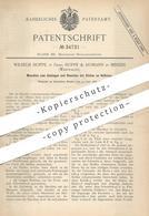 Original Patent - Wilhelm Hoppe   Hoppe & Homann , Minden , 1885 , Umbiegen Und Stauchen Der Stollen An Hufeisen   Huf - Historische Dokumente