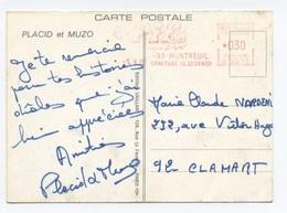 RARE PIF GADGET PLACID ET MUZO MONTREUIL  --RECTO/VERSO - B64 - Marcophilie (Lettres)